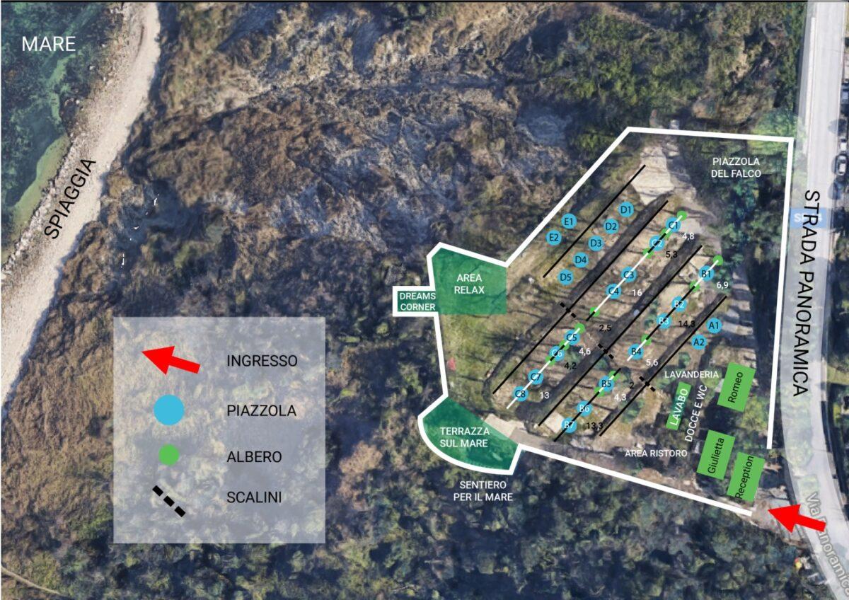 Mappa Camping Gabicce Monte